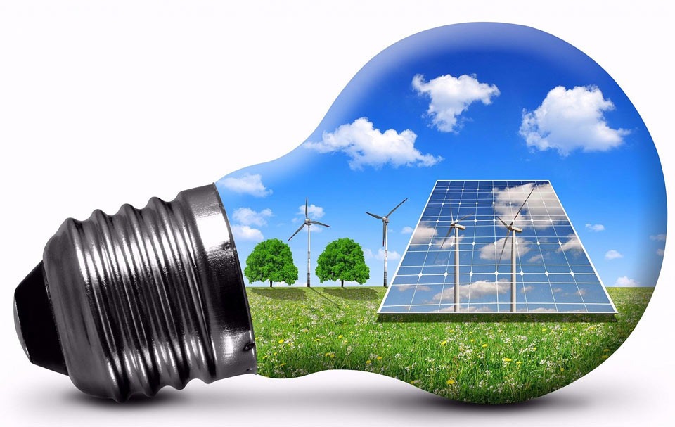 Imagen bombilla energías renovables